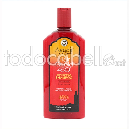 Agadir Argan Oil ChampÚ Hair Shield 450º, 366 Ml