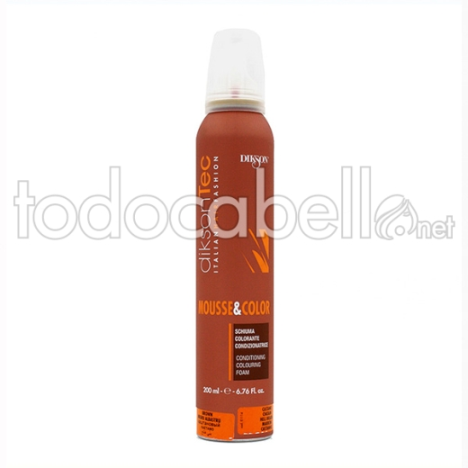 Dikson Tec Mousse & Color Marron Oscuro 200 Ml