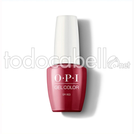 Opi Gel Color Opi Red / Rojo 15 Ml (gc L72a)