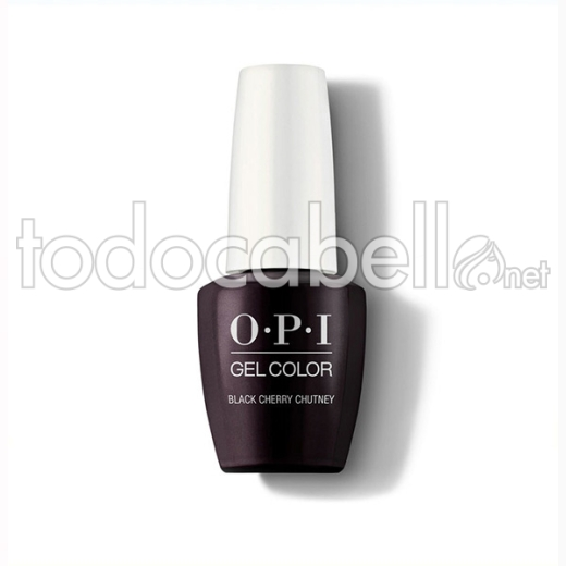 Opi Gel Color Black / Negro Cherry Chutney / Cereza Oscuro 15 Ml (gc I43a)