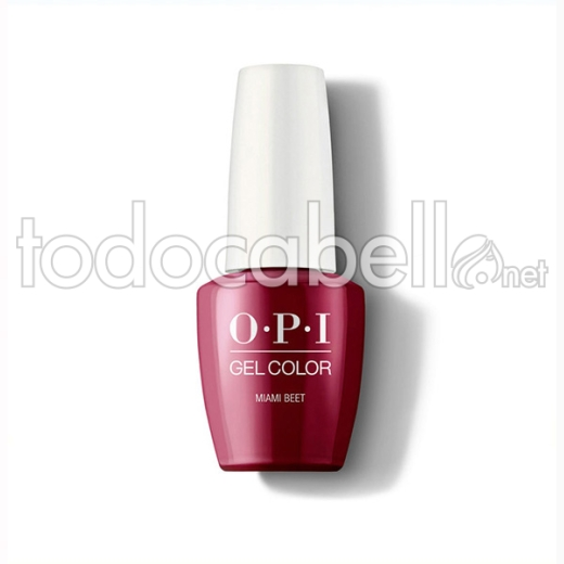 Opi Gel Color Miami Beet / Rojo Vino 15 Ml (gc B78a)