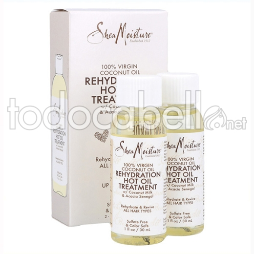 Shea Moisture Virgin Coconut Rehydration Hot Oil Tratamiento 2oz/30 Ml (100% Virgen)