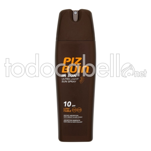 Piz Buin In Sun Ultra Ligero Proteccion Solar Spf-10 200ml