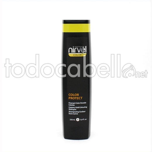 Nirvel Color ChampÚ Color Protect Dorado Cobrizo 250 Ml