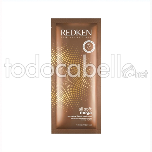 Redken All Soft Mega Recovery Tissue Mascarilla 10pk