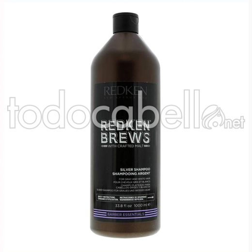 Redken Brews Champú Silver 1000 Ml