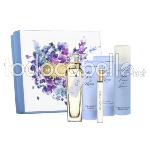 Adolfo Dominguez Agua de Rosas Edt 120ml Vp + Body Lotion 150ml + Gel 150ml + Deo 150ml + Edt 10ml