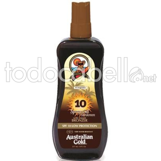 Australian Gold Spray Gel Protector Bronceador Solar SPF10 237ml