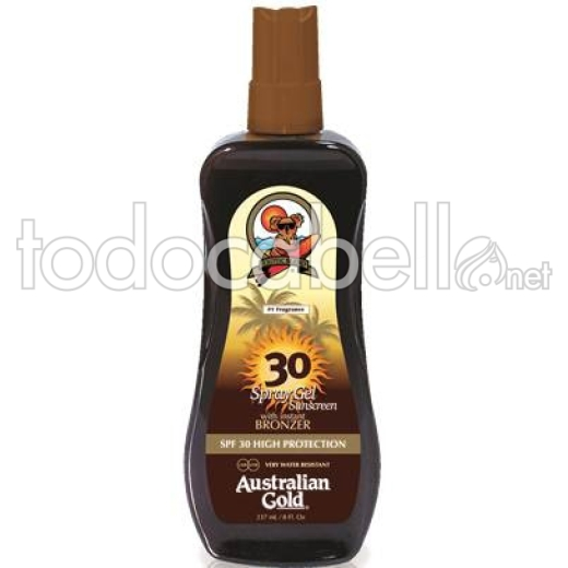 Australian Gold Spray Gel Protector Bronceador Solar SPF30 237ml