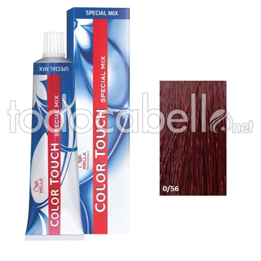 Wella Tinte Color Touch SPECIAL MIX 0/56 Caoba Violeta 60ml +  2 Emulsiones  60ml
