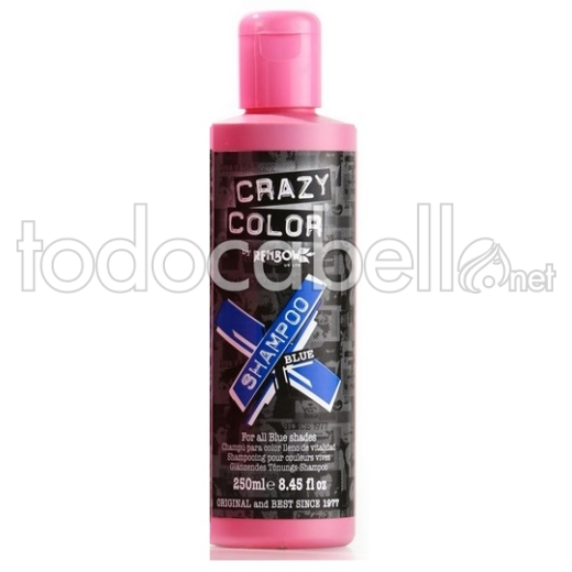 Crazy Color Champú para cabellos coloreados Blue 250ml