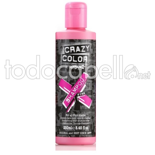Crazy Color Champú para cabellos coloreados Pink 250ml