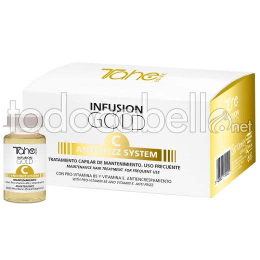 Tahe Infusion Gold C Anti-frizz System. Tratamiento de mantenimiento 5x10ml