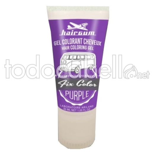 Hairgum Fix Color Purple Coloración en gel para el cabello 30ml