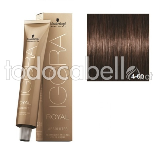 Schwarzkopf Tinte Igora Royal ABSOLUTES 4-60 Castaño Medio Marrón Natural 60ml