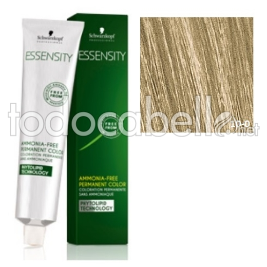 "Schwarzkopf Tinte ESSENSITY 10-0 ""SIN AMONIACO\"" Rubio Platino Natural 60ml + Oxigenada 18vol 60ml de REGALO 1"