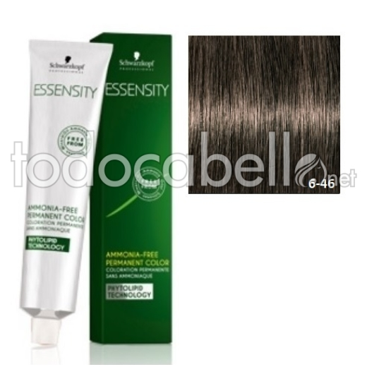 Schwarzkopf Tinte ESSENSITY 6-46 Rubio Oscuro Beige Chocolate 60ml + Oxigenada 18vol 60ml de REGALO