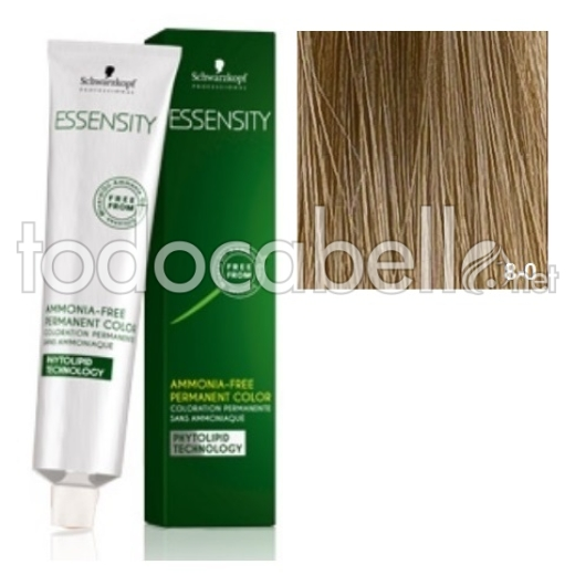 Schwarzkopf Tinte ESSENSITY 8-0 Rubio Claro Natural 60ml + Oxigenada 18vol 60ml de REGALO 1