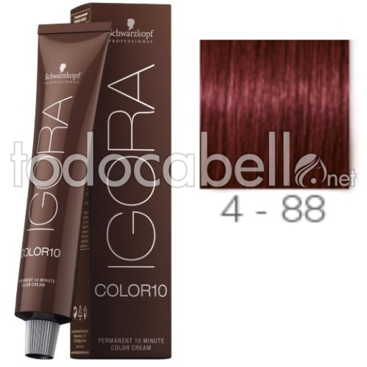 Schwarzkopf Tinte Igora COLOR10 4-88 Castaño Medio Rojo Intenso 60ml