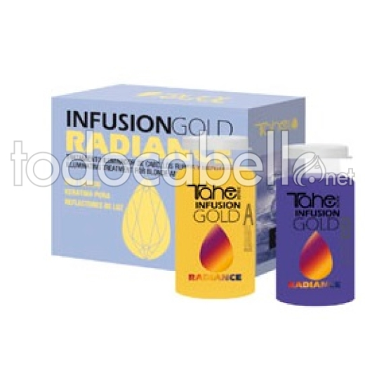 Tahe Infusion Gold Radiance. Tratamiento cabellos rubio y con mechas 2x10ml
