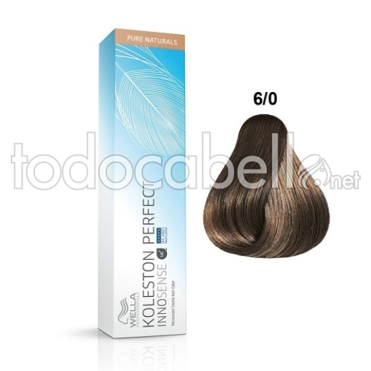 Wella INNOSENSE Tinte Koleston Perfect 6/0 Rubio Oscuro Intenso 60ml 1