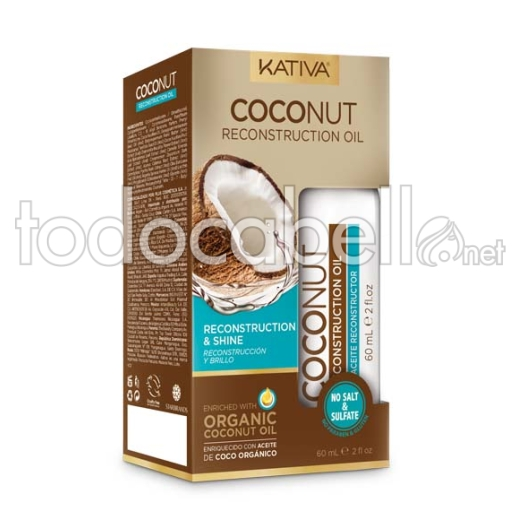 Kativa Coconut Serum Reconstruction & Shine Oil 60ml