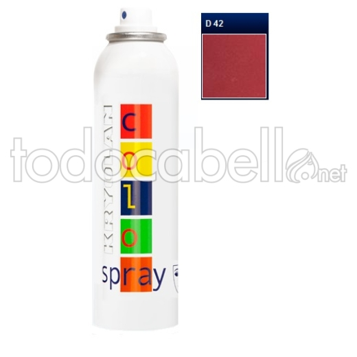 Kryolan Color Spray Fantasía D42 Dark Red 150ml