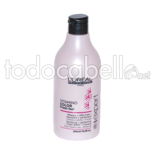 L´Oreal Vitamino Color Freesh Feel. Mascarilla efecto refrescante cabellos teñidos 500ml