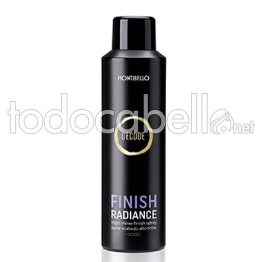 Montibello Decode Finish Radiance. Spray de acabado alto brillo 200ml