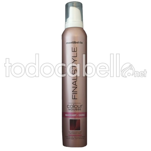 Montibel.lo Espuma Color Texturizante  Caoba 320ml.
