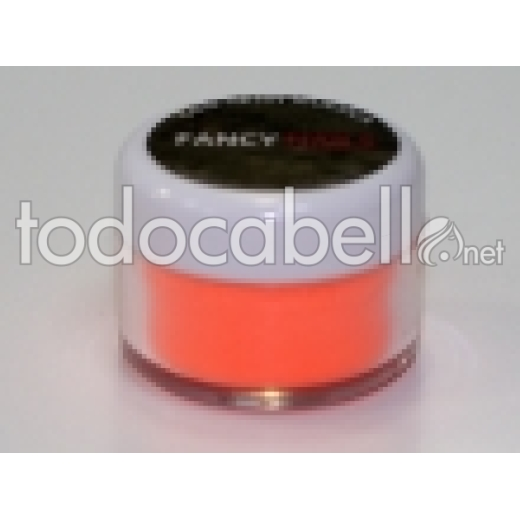 Fancy Nails Porcelana de color  Naranja Neon 10g.