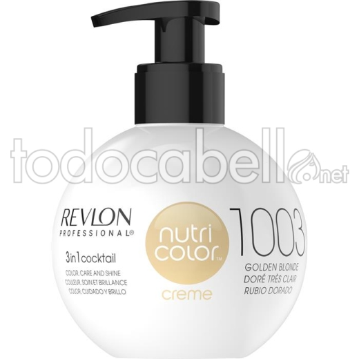 Revlon Nutri Color Filters 1003 Dorado Muy Claro 240ml.
