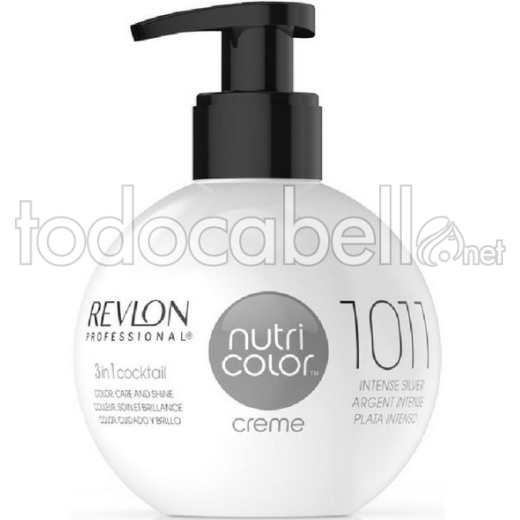 Revlon Nutri Color Creme 1011 Plata Intenso 270ml.