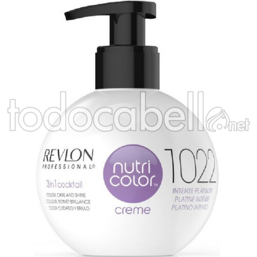 Revlon Nutri Color Creme 1022 Platino Intenso 270ml.