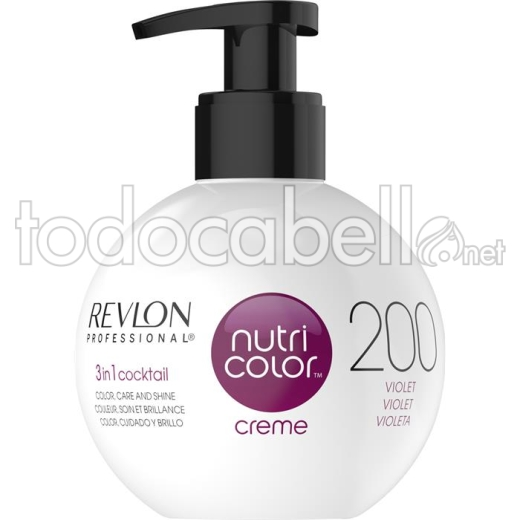 Revlon Nutri Color Creme 200 Violeta 270ml.