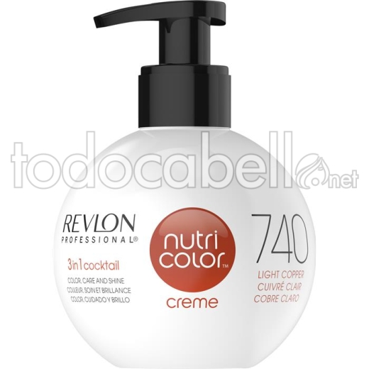 Revlon Nutri Color Creme 740 Cobre Claro 270ml.