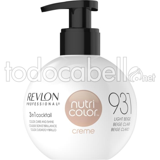 Revlon Nutri Color Creme 931 Beige Claro 270ml.