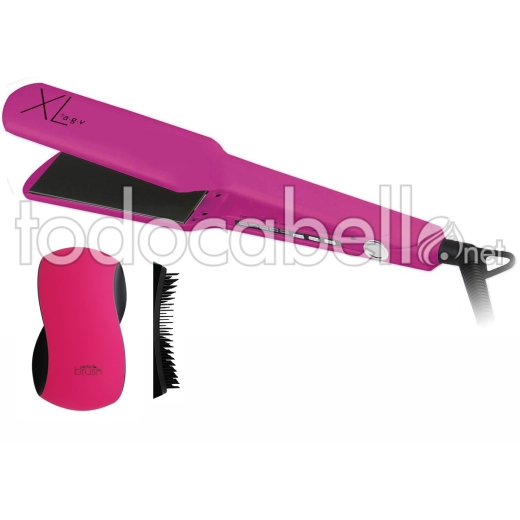 a.g.v Plancha Profesional XL Pink + Cepillo Perfect Brush Pink 1