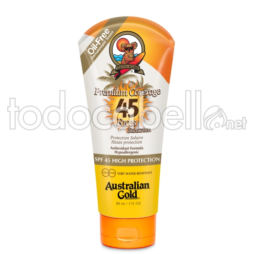 Australian Gold Premium Coverage Lotion Protector facial SPF 45 88ml
