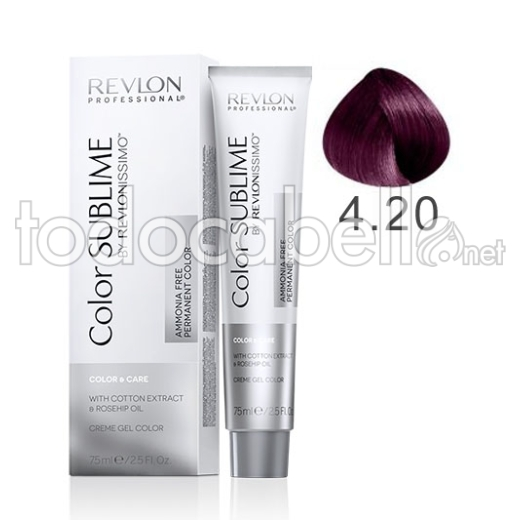 "Revlon Tinte Color SUBLIME Revlonissimo 4.20 Castaño Violeta Intenso ""Sin Amoniaco"" 75ml"