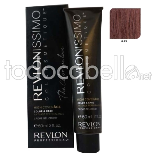 Tinte Revlonissimo Colorsmetique High Coverage 6.25 Rubio Oscuro Chocolate 60ml