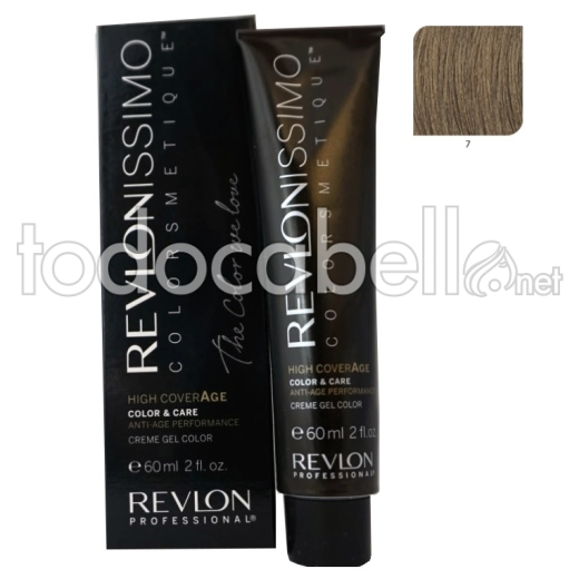 Tinte Revlonissimo Colorsmetique High Coverage 7 Rubio 60ml