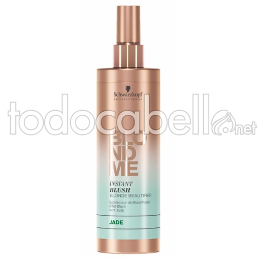 Schwarzkopf Blondme Instant Blush Jade. Spray reflejos verdes 250ml