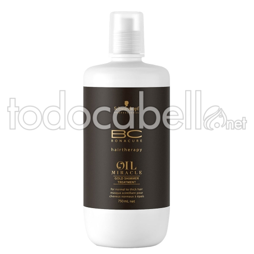 Schwarzkopf BC Oil Miracle Gold Shimmer Tratamiento 750ml.