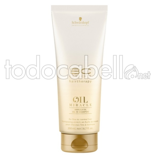 Schwarzkopf BC Oil Miracle Marula Oil Shampoo Cabello seco normal/fino 200ml