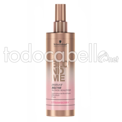 Schwarzkopf Blondme Instant Blush Strawberry. Spray reflejos rosas 250ml