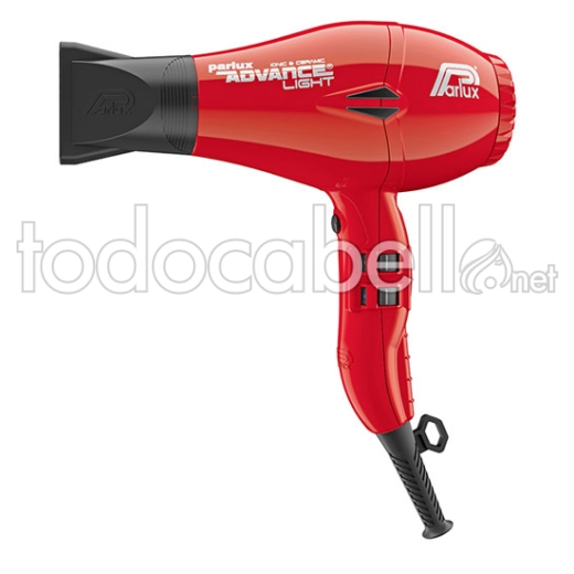 Parlux Secador Advance Light Ionic&Ceramic color Rojo 2200W
