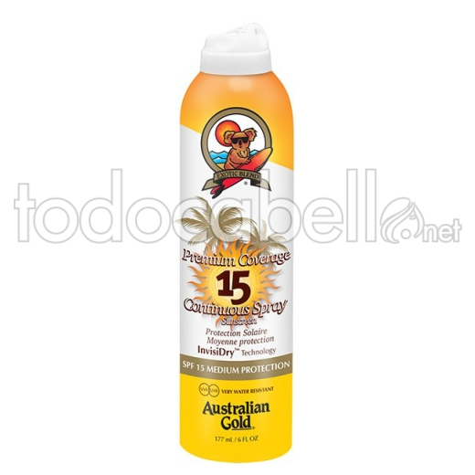 Australian Gold Premium Coverage SPF 15 Continuous Spray 177ml