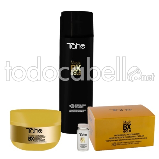 Tahe Pack Magic BX Gold.Rellenador Capilar Efecto Botox