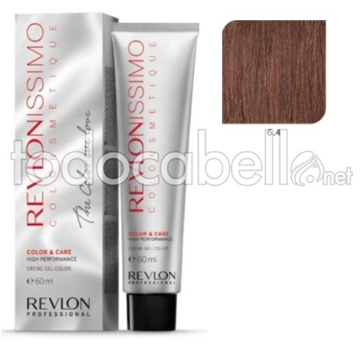 Tinte Revlonissimo Colorsmetique 6.4 Rubio Oscuro Cobrizo 60ml.
